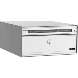 Allux PC1 Systempostkasse, hvid stål, front