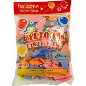 Balloner ass. farver pose med 100 stk