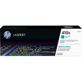 HP nr. 410X/CF411X lasertoner, cyan, 5000s.