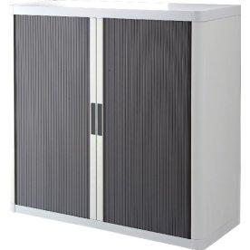 Paperflow Easy Office 1 m, 2 hylder, Hvid/antracit