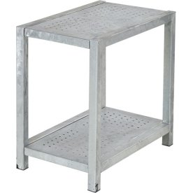 Anretterbord perf., varmgalv. stål, 47x77x72 cm