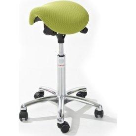 CL Mini sadelstol, grøn, stof, 58-77 cm