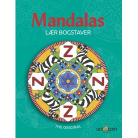 Mandalas malebog Lær bogstaver