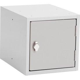 Opbevaringsboks, 200x150x150, Cylinderlås, Grå/Grå