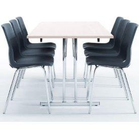 Bord med klapstel 80x120 cm, hvid laminat
