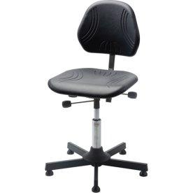 Comfort arbejdsstol, formstøbt PU skum, glat søjle