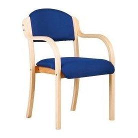 Morten m/armlæn konferencestol, blå