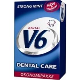 V6 Dental tyggegummi strong mint