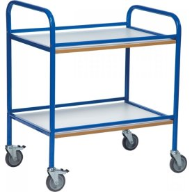 Rullebord - 2 hylder, 760x520x900, Blå