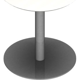 Søjle til konferencebord sølvfarvet