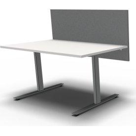 Easy bordskærmvæg H65xB140 cm grå