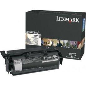 Lexmark X651H31E lasertoner, sort, 25000s