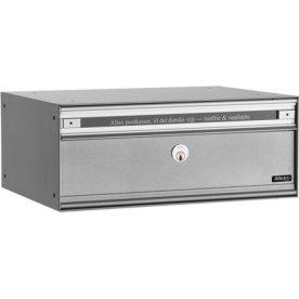 Allux PC2 Systempostkasse, alugrå stål, front