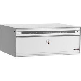 Allux PC2 Systempostkasse, hvid stål, front