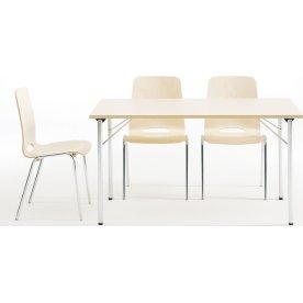 Ultima bord med klapstel 80X120 cm, bøg melamin