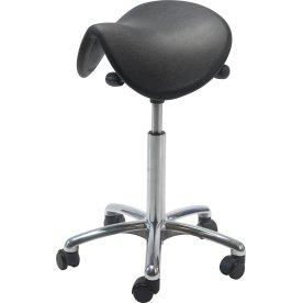 Dalton sadelstol, Alu fodkryds m/ hjul, sort
