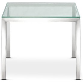 Florence sofabord, 55x55, krom,  Mat glas