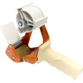 Pakketape dispenser med indstillelig bremse