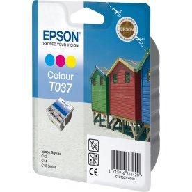 Epson nr.T037/C13T03704010 blækpatron, farve, 180s