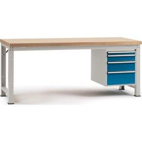 Manuflex prof arb.bord,125x70,Multiplex,Grå,Grund
