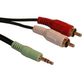 MiniJack-M 2xPhono-M 2m