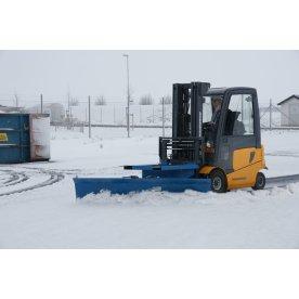 Sneplov til gaffeltruck, 2500 mm, blå