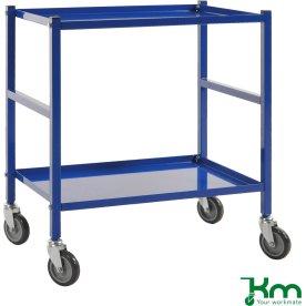 Rullevogn, 2 hylder, 670x415x760, 150 kg, Blå