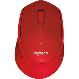 Logitech M330 Silent Plus mus, rød