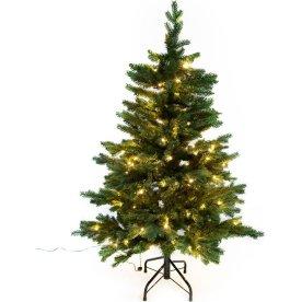 Juletræ LUX inkl. LED lys - 120 cm, Grøn