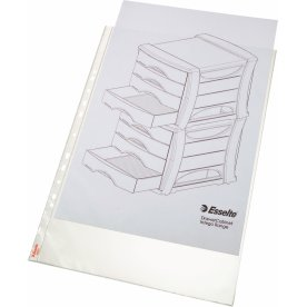 Esselte Premium plastlomme, A3 højf. top, 0,09mm