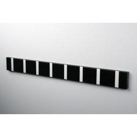 KNAX 8 knagerække, vandret, sort/grå