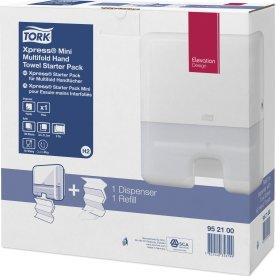 Tork H2 Startpakke Dispenser & Håndklædeark, hvid
