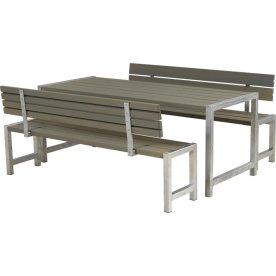 Plus Plankesæt m. ryglæn, Gråbrun