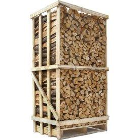 Ovntørret løvtræ i brændetårn, ca. 1,8 m3