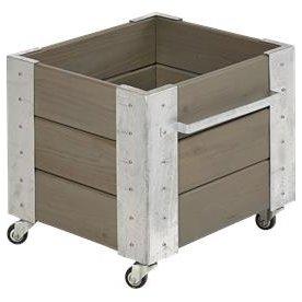 Plus Cubic Blomsterkasse  46x50x45, Gråbrun
