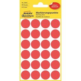 Avery 3004 manuelle etiketter, 18mm, 96 stk, rød