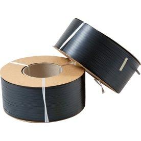 Maskinbånd PP Ø406 mm, 330 kg, sort, 1500 m