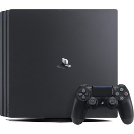 Sony Playstation 4 Pro 1TB, sort