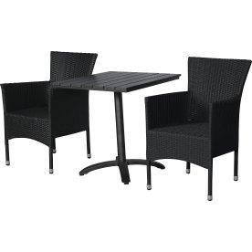 Pavia cafésæt til 2 pers. - luksusstole