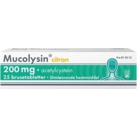 Mucolysin Brusetabletter, 200 mg, 25 stk.
