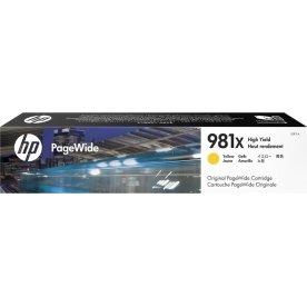 HP 981XL/L0R11A, XL blækpatron, gul, 10000s