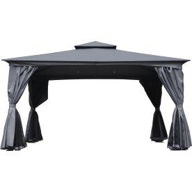 Pavillion Deluxe, 2,75x4 m, polyester/metal, grå