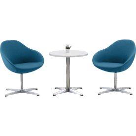 Guest loungesæt t/ 2 personer, Petroleumsblå