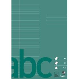 Bantex kladdehæfte A4, linjeret, grøn