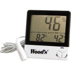 Woods Hygrotermometer m. ledning