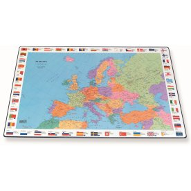 Bantex skriveunderlag, europakort
