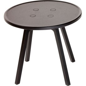 C2 Sofabord, Sortlakeret eg, Ø50 cm