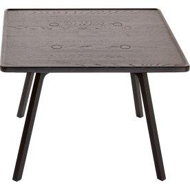 C2 Sofabord, Sortlakeret eg, 65x65 cm