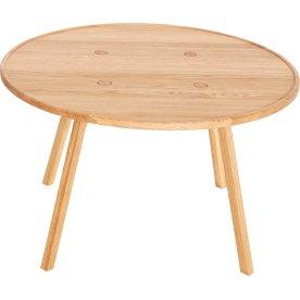 C2 Sofabord, Olieret eg, Ø80 cm