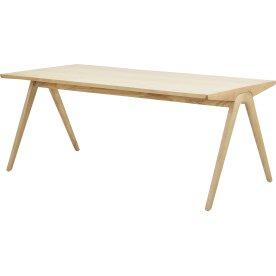 NOFU Mødebord, Massivt asketræ natur, 180x85 cm